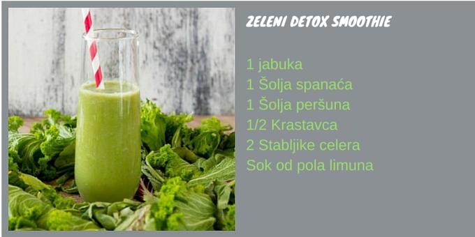 zeleni detox smoothie